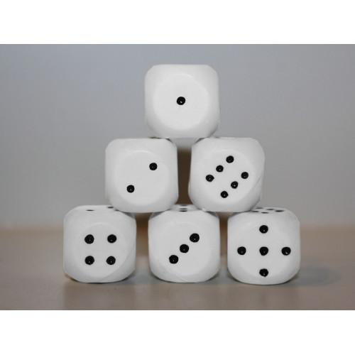 Кубик игральный белый