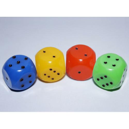 Кубик игральный цветной